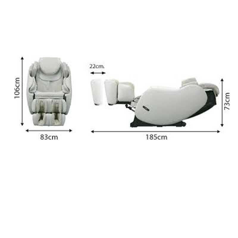 Caractéristiques du fauteuil massant Inada 3S Flex