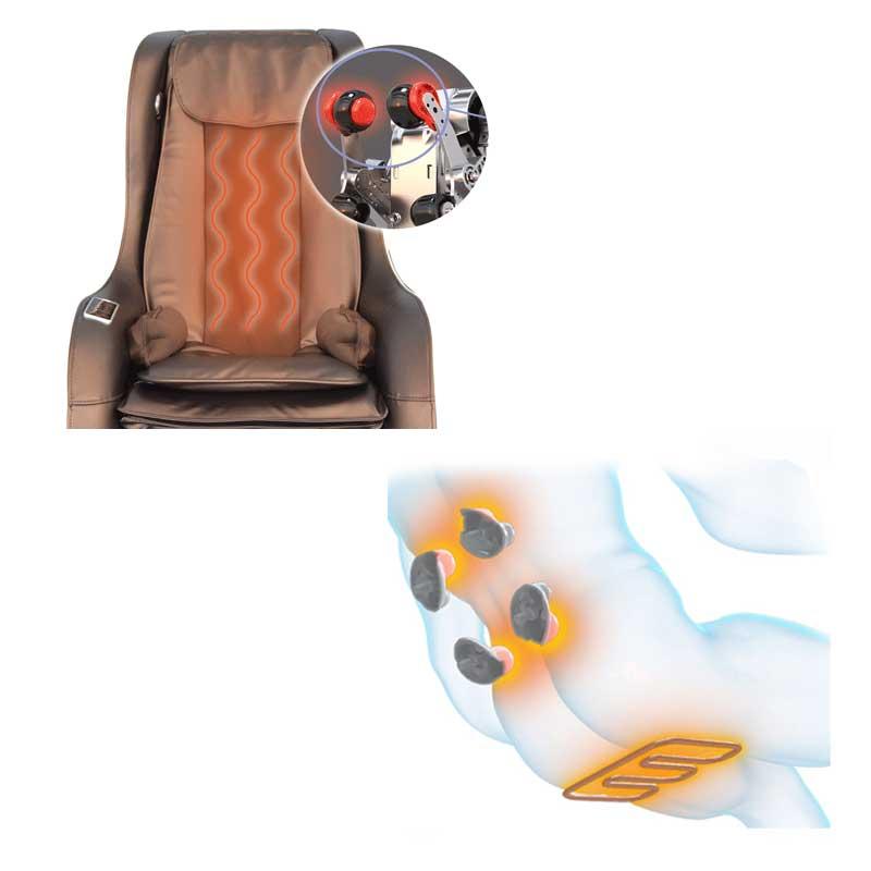 Un fauteuil chauffant pour un massage idéal