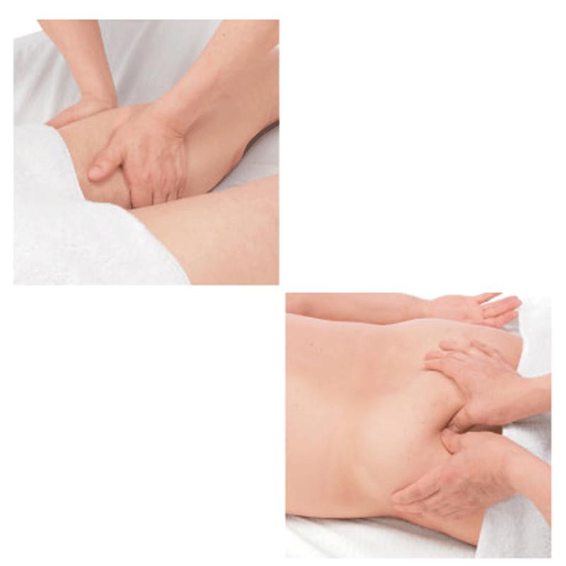 Massage de maintien independant de gauche a droite