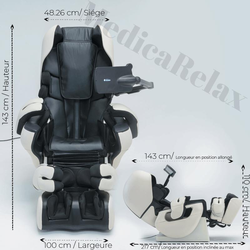 Caractéristiques du fauteuil massant Inada Therapina Robo