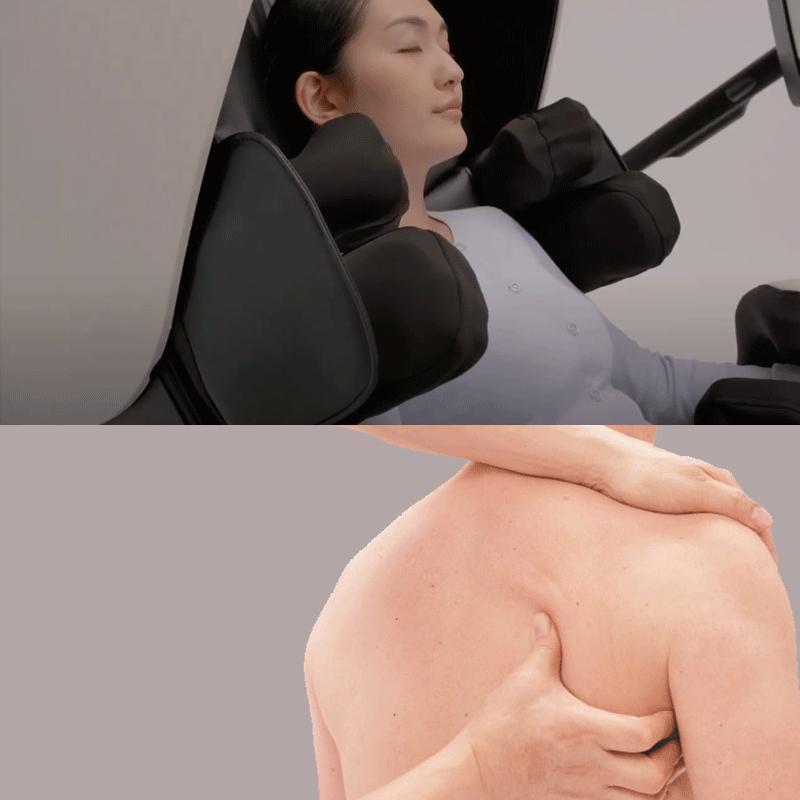 Massage des omoplates