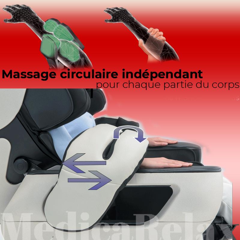 Massage circulaire indépendant pour chaque partie du corps