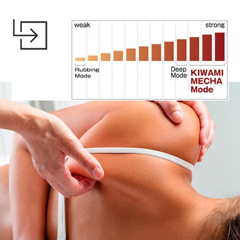 Changez l'intensité du massage en ajustant l'acuité de 1 à 12 cm