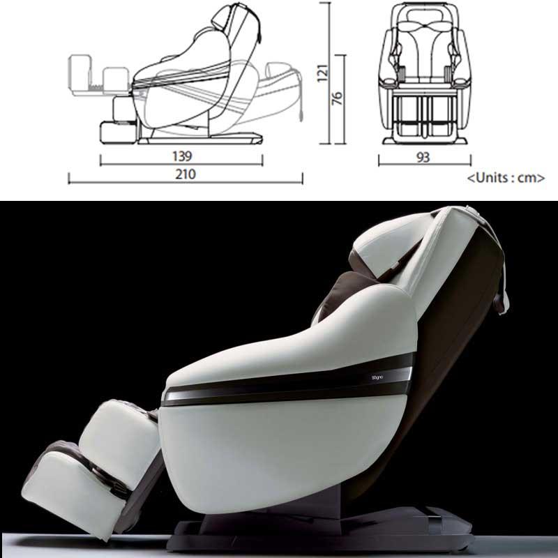 Caractéristiques du fauteuil massant Inada Dreamwave