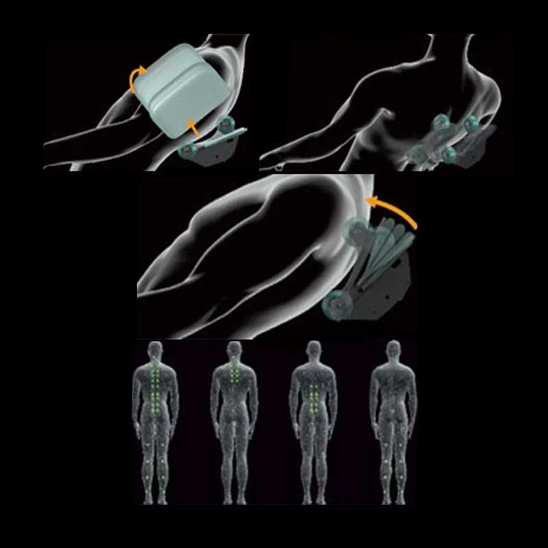 Le robot de massage avec la profondeur 3D