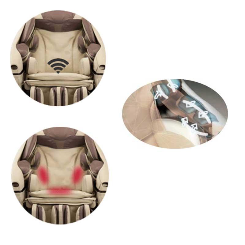 Amplitude des rouleaux de massage